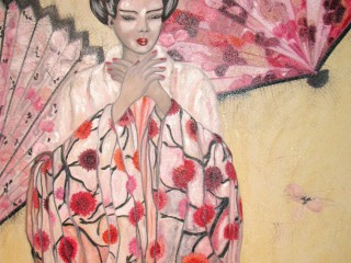 100x150cm MadameButterfly. Oil on canvas. 2009-196