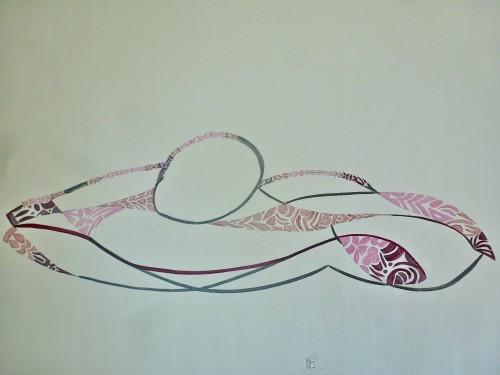 402 80x100cm Sieste. Acrylic. 2013-402