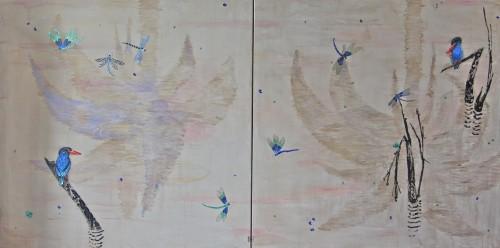 470 120x240cm Toutes nos vies. Acrylique, huile et pigments sur toile. 2016-470