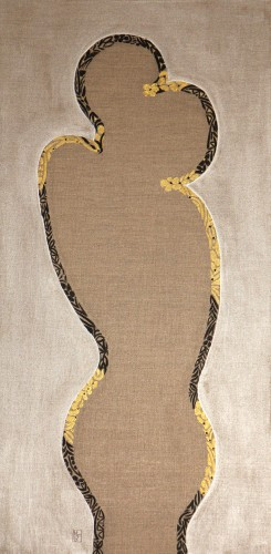 50x100cm The two who hope. A+O. 2014-407
