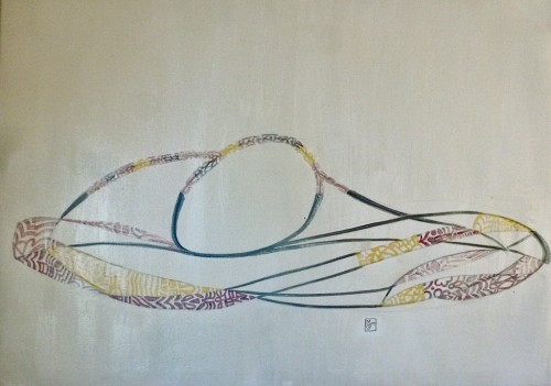 50x70cm Summer siesta 2013-399 Acrylic on canvas
