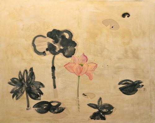 80x100cm Imagination. Silk, ink, oil on linen canvas. 2011-309